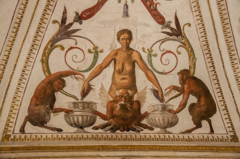 Grotesque frescoes - Cornaro Loggia and Odeon Cornaro - Padua, Veneto, Italy - www.rossiwrites.com