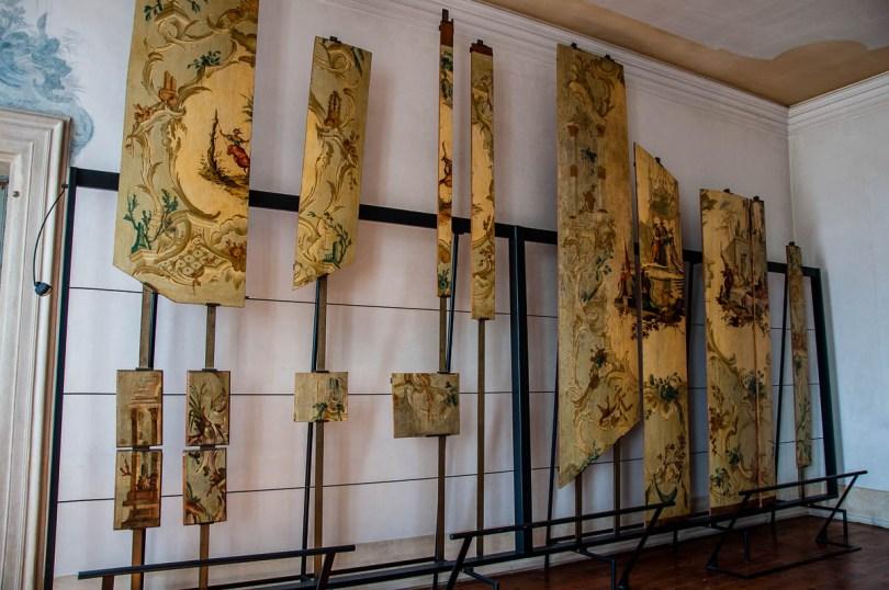 Remnants of Oriental screens - Villa Pisani - Stra, Veneto, Italy - www.rossiwrites.com
