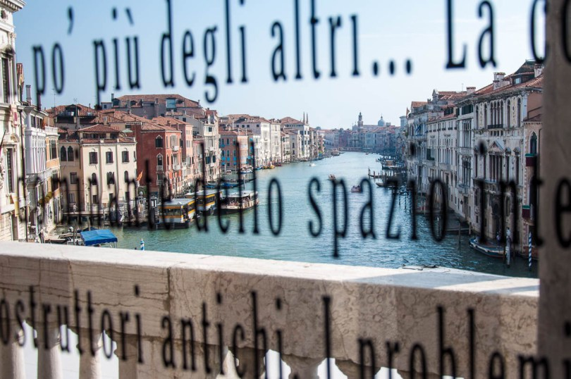 Rialto Bridge glimpsed from the Aula Baratto of Ca Foscari - Venice, Veneto, Italy - www.rossiwrites.com