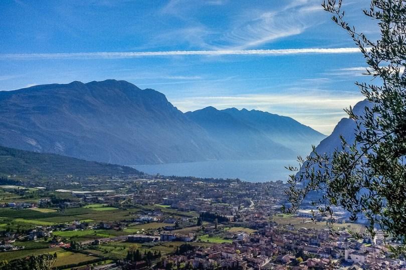Riva del Garda seen from Cascata del Varone - Lake Garda, Italy - www.rossiwrites.com