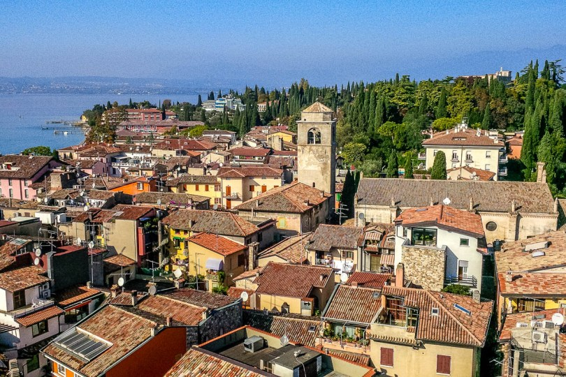 Sirmione seen from the top of the Scaliger Castle - Lake Garda, Italy - www.rossiwrites.com