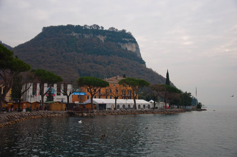 The promenade and La Rocca - Garda Town, Lake Garda, Italy - www.rossiwrites.com
