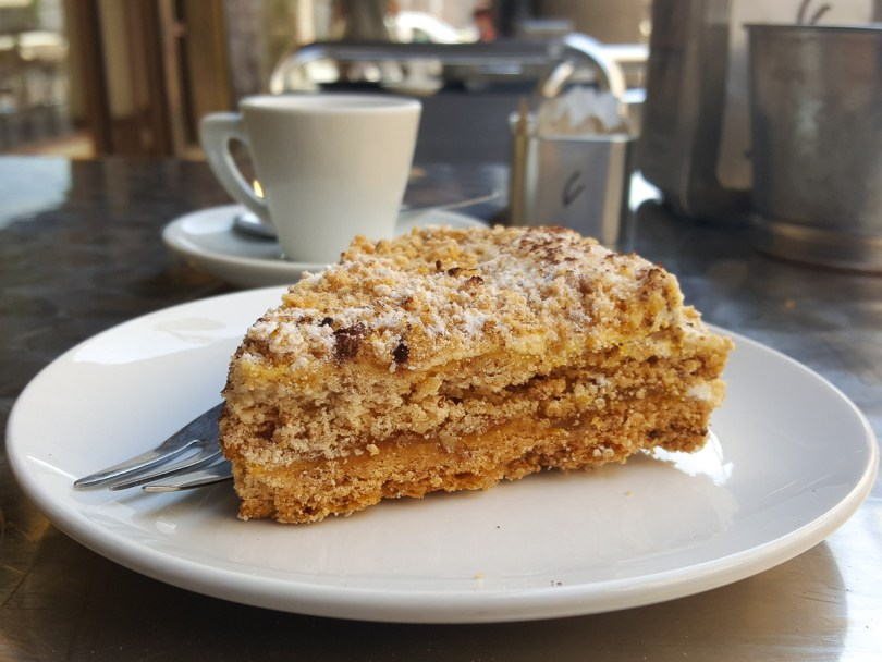 A slice of Torta Pazientina - typical cake for the city of Padua in Italy - rossiwrites.com