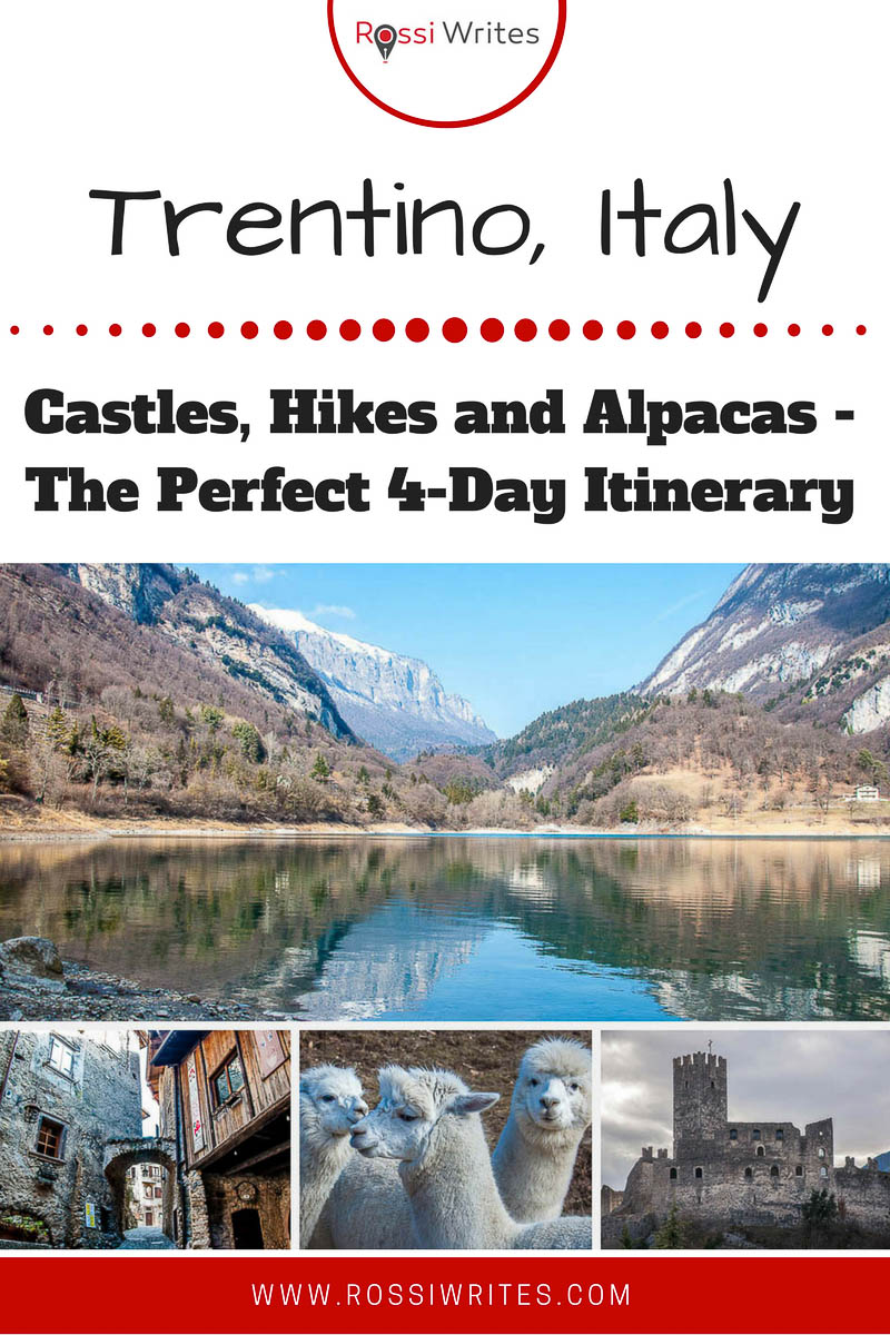 Discover the province of Trentino, Italy. Enjoy stunning hikes, visit medieval castles, get to know a herd of gentle alpacas. Then explore the capital Trent with its museums and cobbled squares with frescoed buildings. Read this perfect 4-day itinerary (with or without kids). #VisitTrentino #Travel
