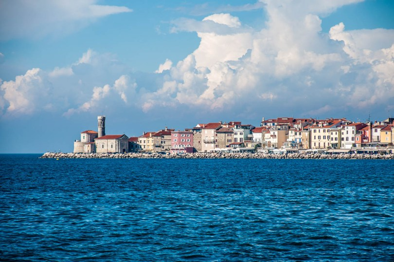 Panoramic view of Punta Madonna - Piran, Slovenia - www.rossiwrites.com