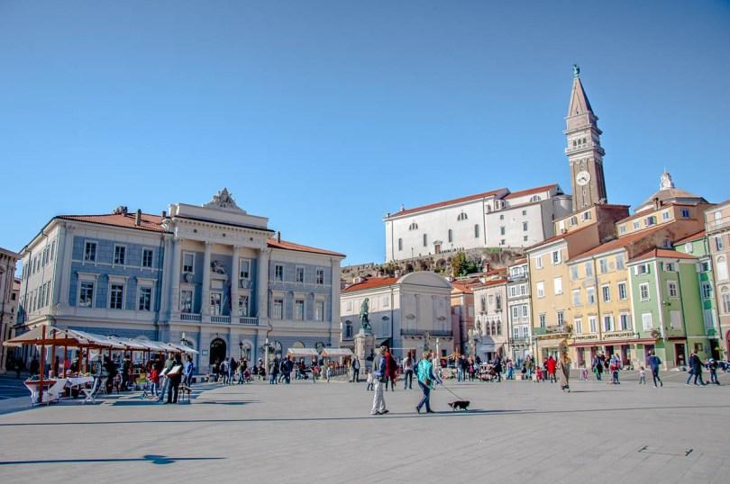 Tartini Square - Piran, Slovenia - www.rossiwrites.com
