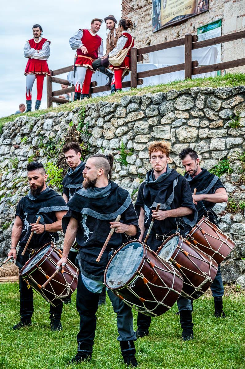 Drummers - La Faida, Castles of Romeo and Juliet - Montecchio Maggiore, Italy - www.rossiwrites.com