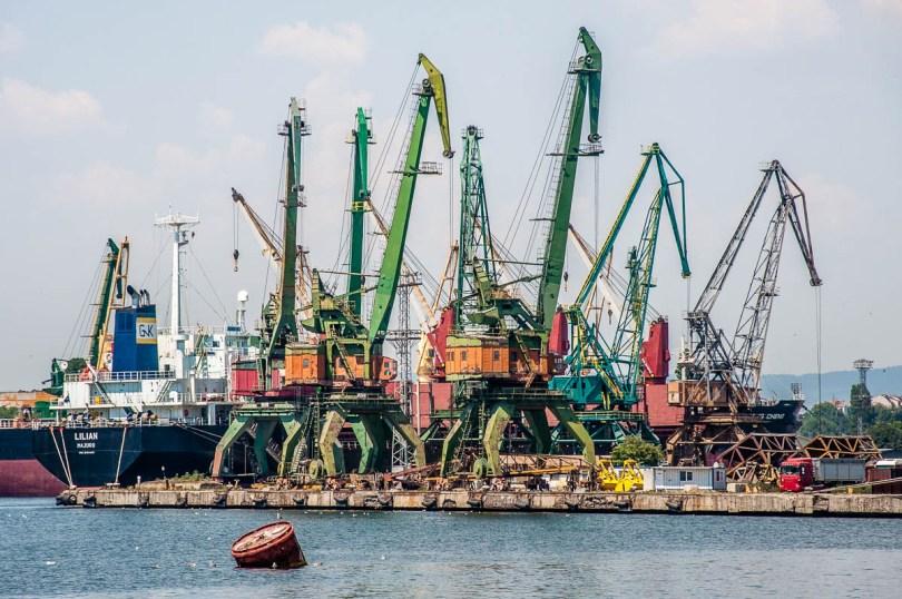 Shipyard cranes - Varna, Bulgaria - www.rossiwrites.com