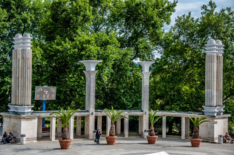 The entrance of the Sea Garden - Varna, Bulgaria - www.rossiwrites.com