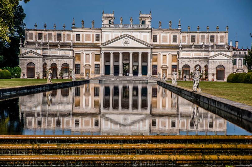 A mirror image of the winter garden - Villa Pisani, Stra, Veneto, Italy - www.rossiwrites.com