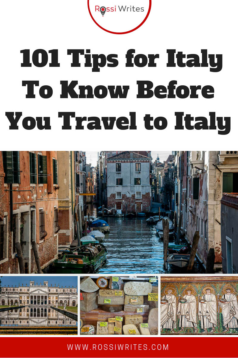 Are you planning a trip to Italy? Find 101 tried and tested tips for Italy to help you have the holiday of your lifetime. Detailed information included. #italy #travel