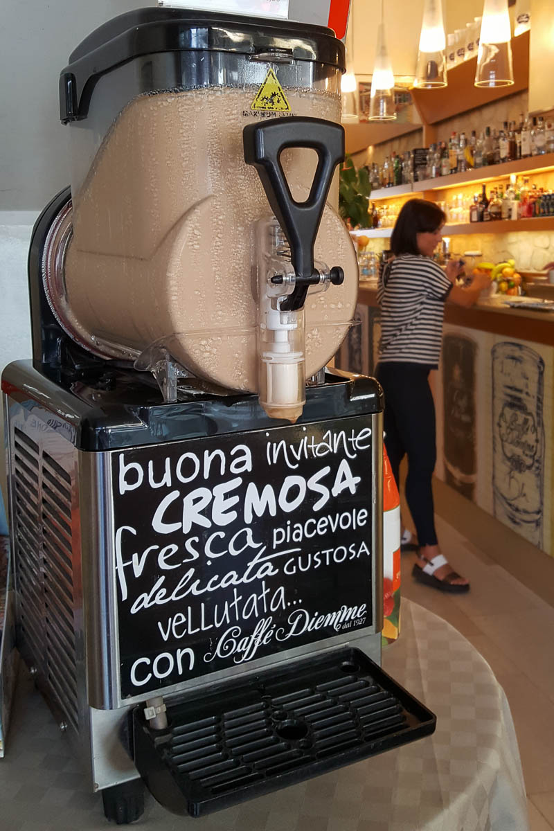 A machine for caffe crema - Padua, Italy - www.rossiwrites.com