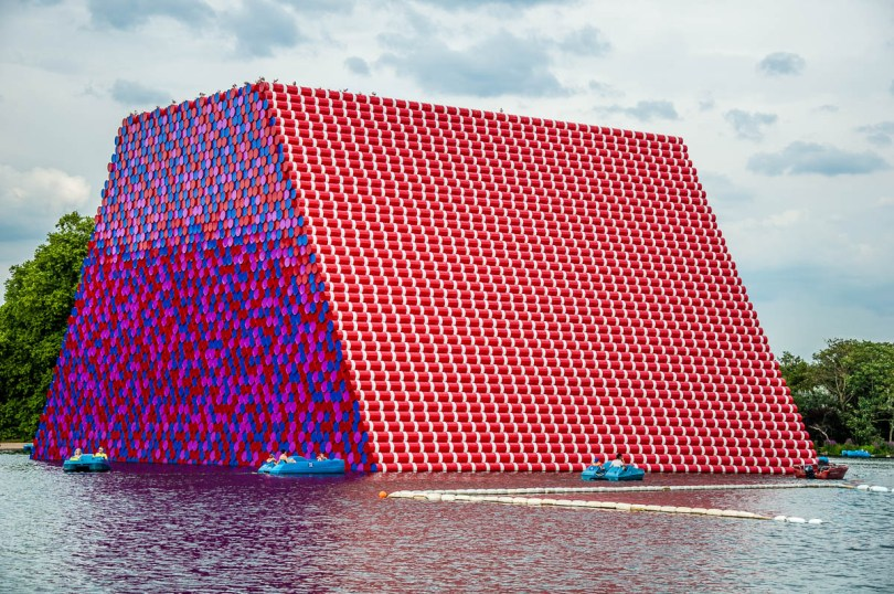 Christo and Jeanne-Claude's The London Mastaba - Hyde Park - London, England - www.rossiwrites.com