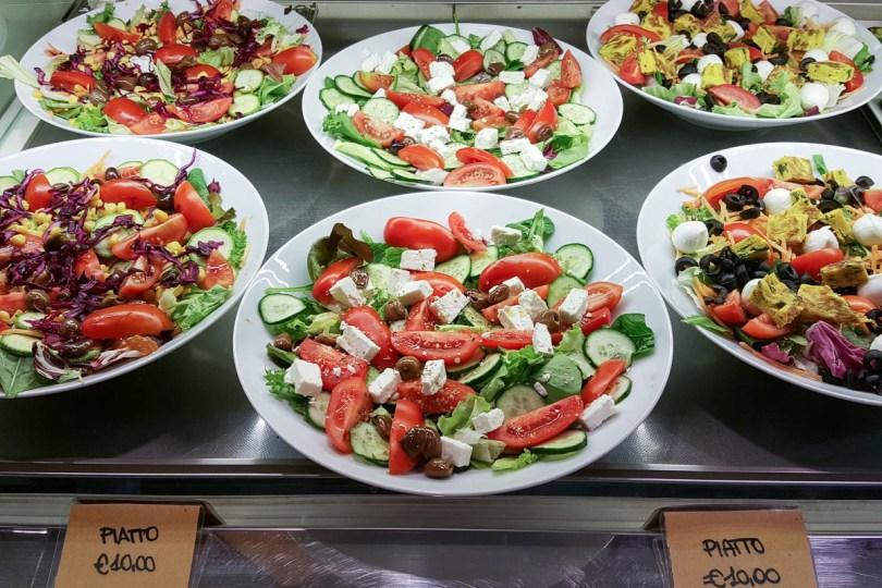 Fresh salads, Mercato di Mezzo - Bologna, Emilia-Romagna, Italy - www.rossiwrites.com