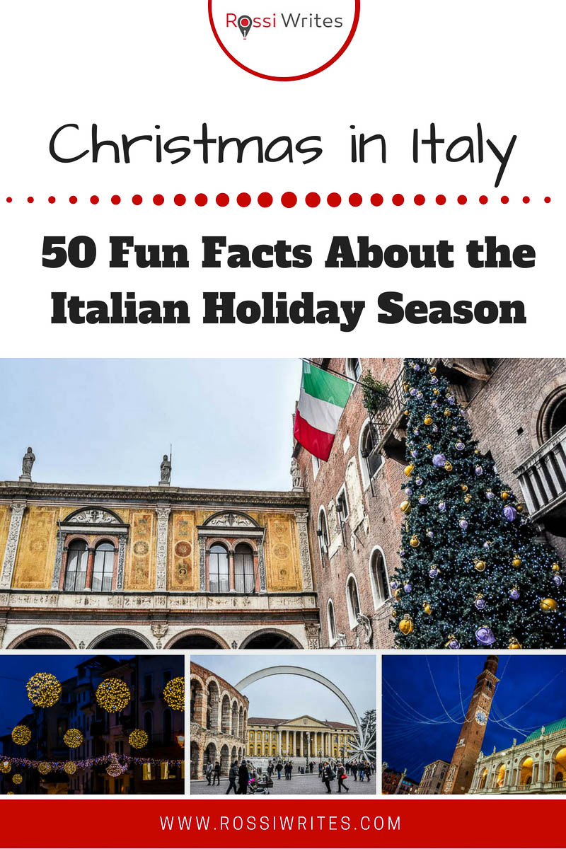 Christmas in Italy is beautiful, authentic and often white. Find out 50 fun facts to make you want to experience the Italian holiday season for yourself. #travel #christmas