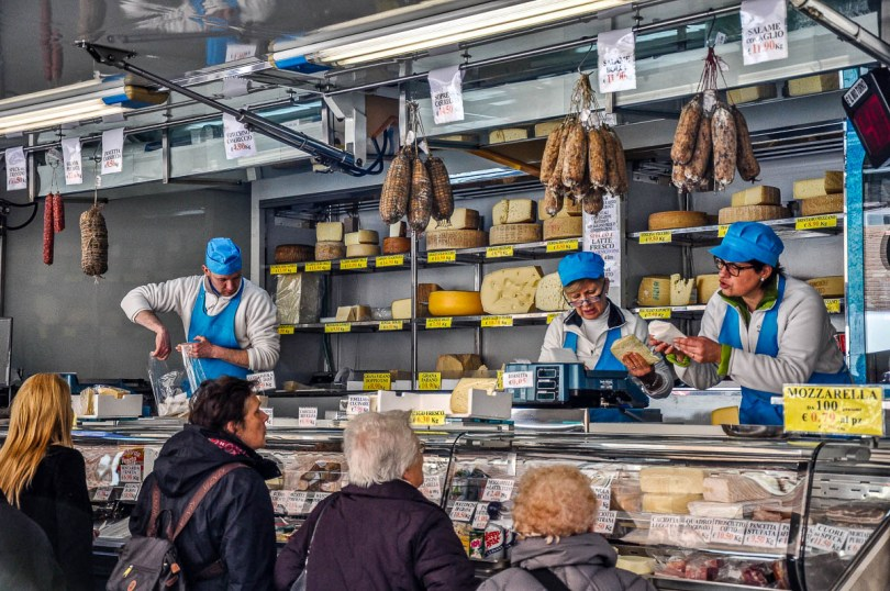 Market van selling cheese, salami and dairy products - Vicenza, Italy - www.rossiwrites.com