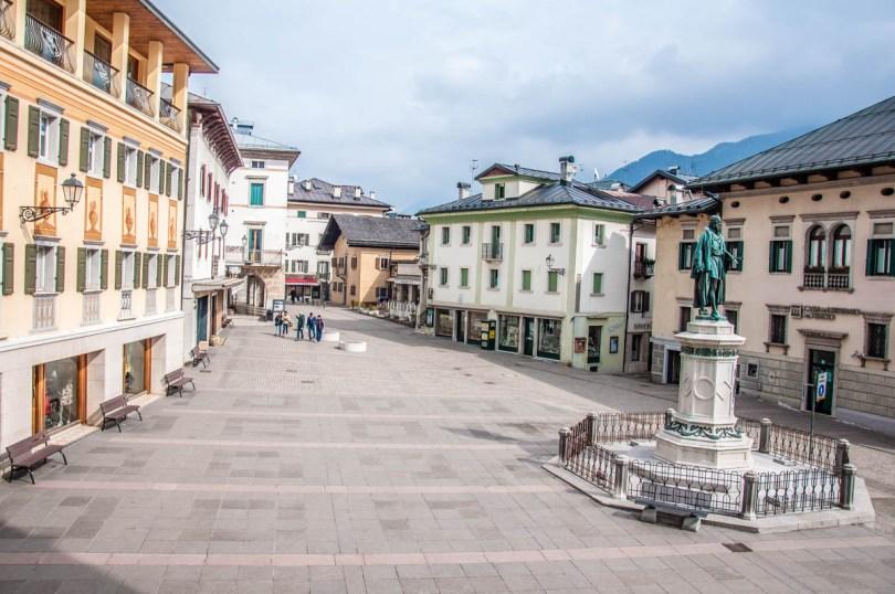 Piazza Tiziano - Pieve di Cadore, Veneto, Italy - www.rossiwrites.com