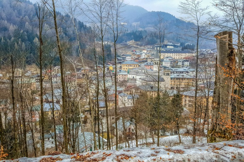The town seen from above - Pieve di Cadore, Veneto, Italy - www.rossiwrites.com