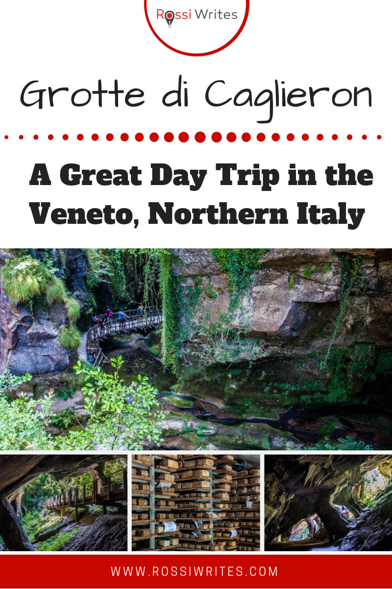 Grotte di Caglieron is a gorge in Northern Italy with man-made caves and several waterfalls. Find out how to visit on a day trip from Venice, Padua and Vicenza. #travel #italy #europe #traveltips #daytrips