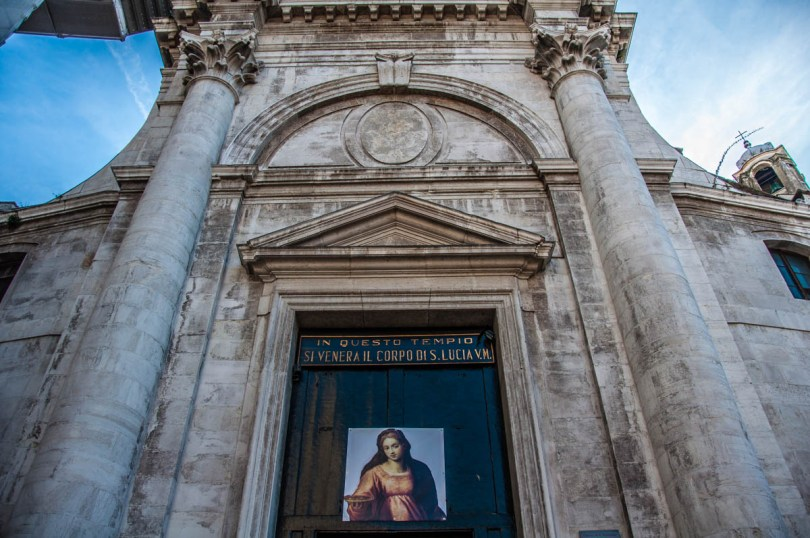The Church of San Geremia where Santa Lucia's relics are kept - Venice, Italy - www.rossiwrites.com