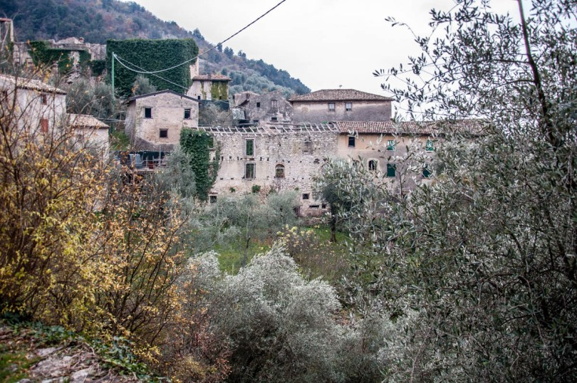 View of the medieval village - Campo di Brenzone, Lake Garda, Italy - www.rossiwrites.com