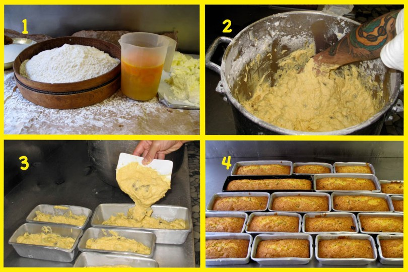 Preparation of plum cake - Pasticceria Soraru - Vicenza, Veneto, Italy - www.rossiwrites.com