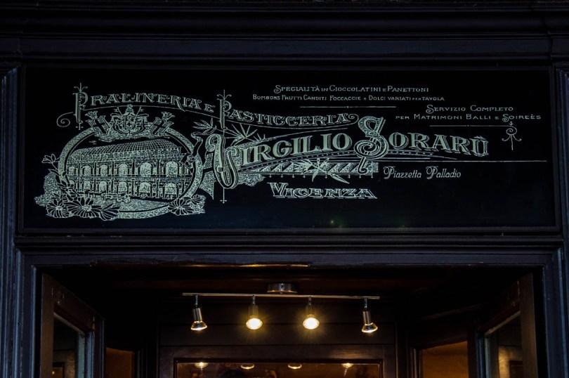 The historical fascia of Pasticceria Soraru - Vicenza, Veneto, Italy - www.rossiwrites.com