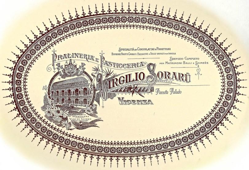 The logo of Virgilio Soraru - Pasticceria Soraru - Vicenza, Veneto, Italy - www.rossiwrites.com