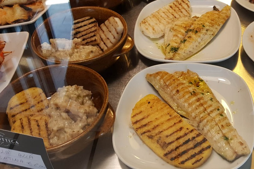 Grilled fish with polenta and baccala alla vicentina - Vicenza, Veneto, Italy - www.rossiwrites.com