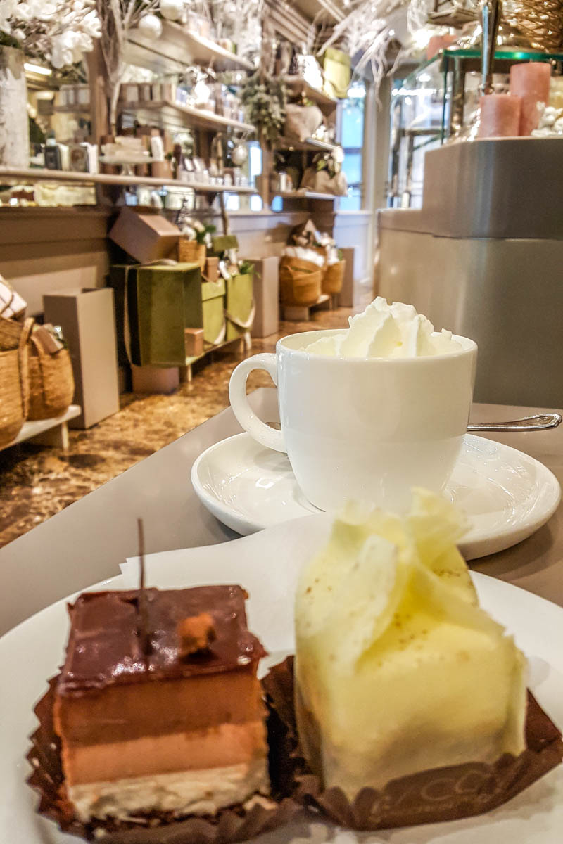 Coffee with Italian pasticceria mignon - Pasticceria Racca - Padua, Italy - rossiwrites.com