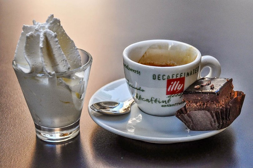 Espresso with whipped cream - Vicenza, Italy - www.rossiwrites.com