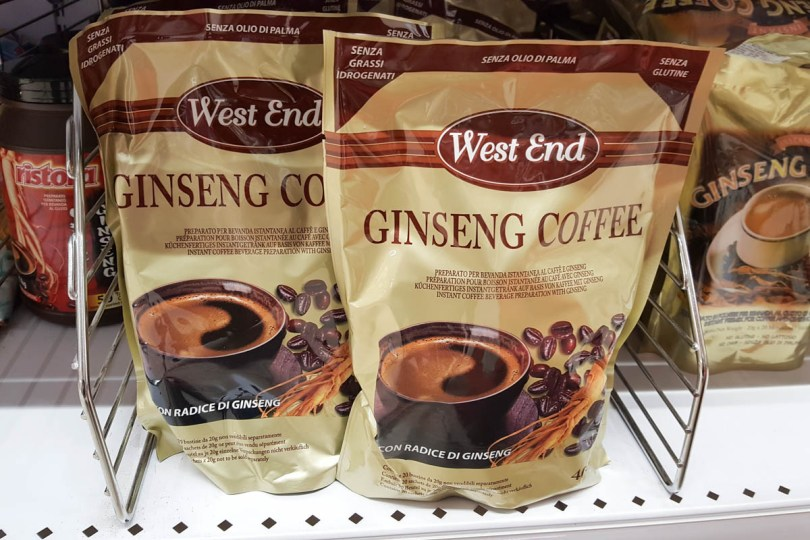 Ginseng coffee - Vicenza, Italy - www.rossiwrites.com
