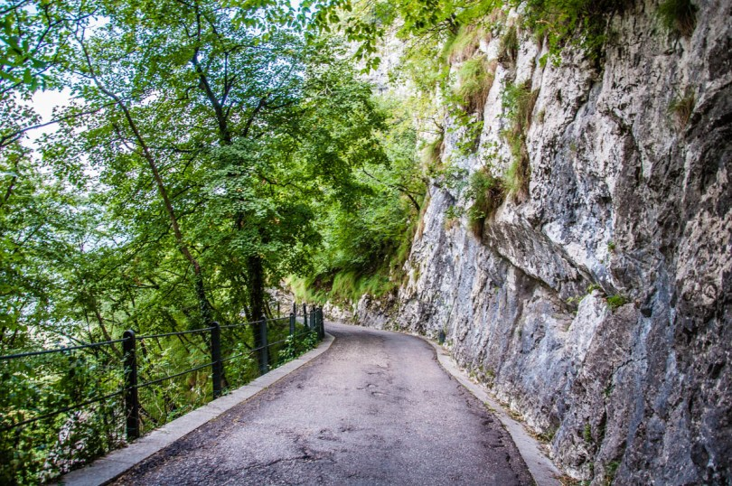 The path leading to Sanctuary of Madonna della Corona - Spiazzi, Veneto, Italy - www.rossiwrites.com