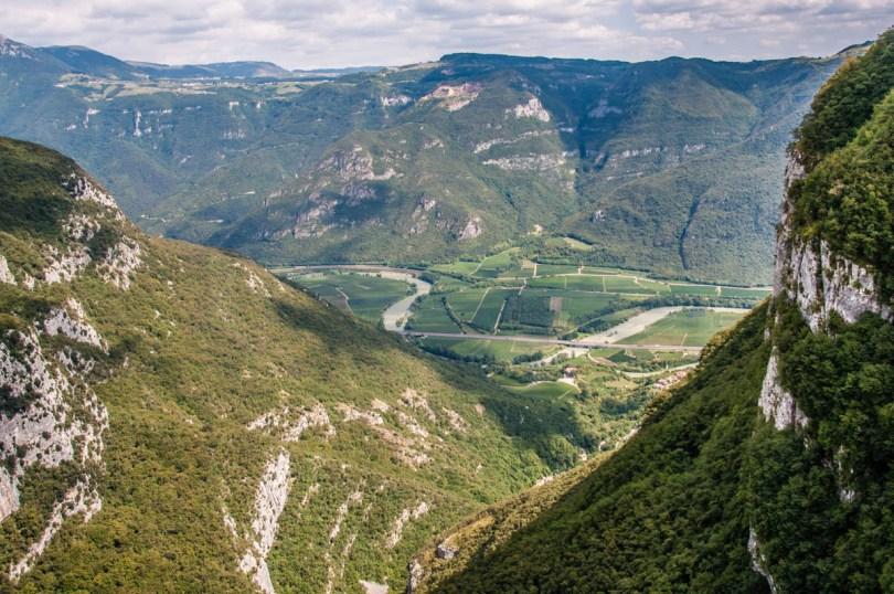 The valley of the river Adige - Sanctuary of Madonna della Corona - Spiazzi, Veneto, Italy - www.rossiwrites.com