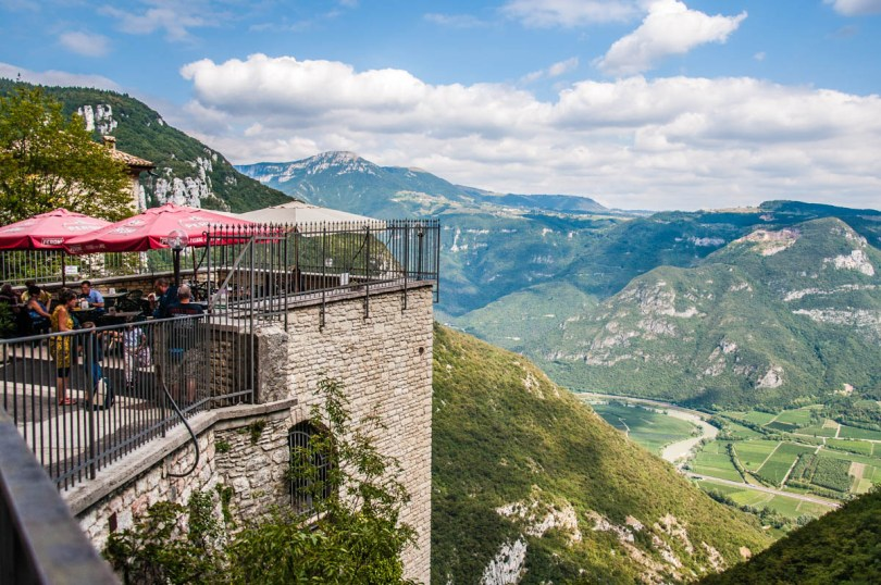 The view from the cafe's terrace - Sanctuary of Madonna della Corona - Spiazzi, Veneto, Italy - www.rossiwrites.com