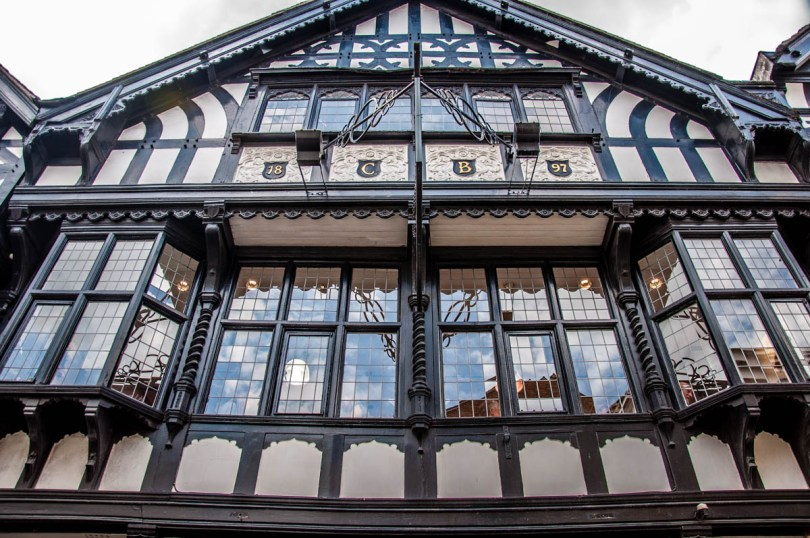 Facade of a mock Tudor house - Chester, Cheshire, England - rossiwrites.com