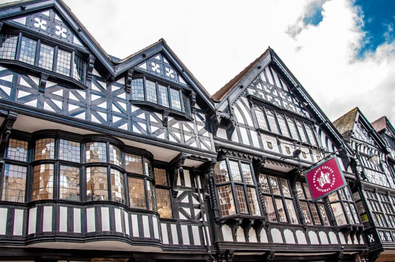 Facades of a mock Tudor houses - Chester, Cheshire, England - rossiwrites.com