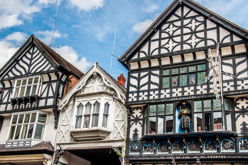 Mock Tudor Houses - Chester, Cheshire, England - rossiwrites.com