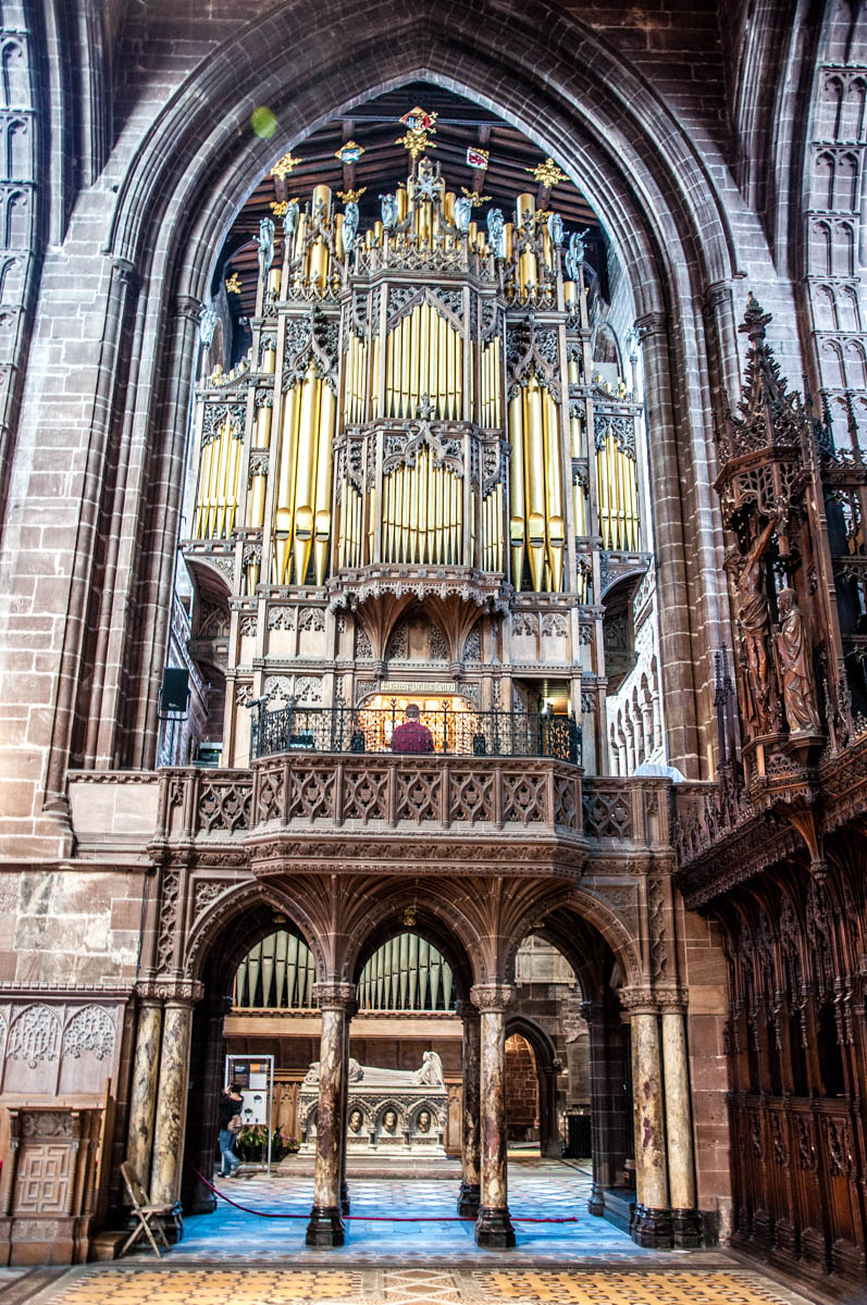 Organ - Chester Cathedral - Chester, Cheshire, England - rossiwrites.com
