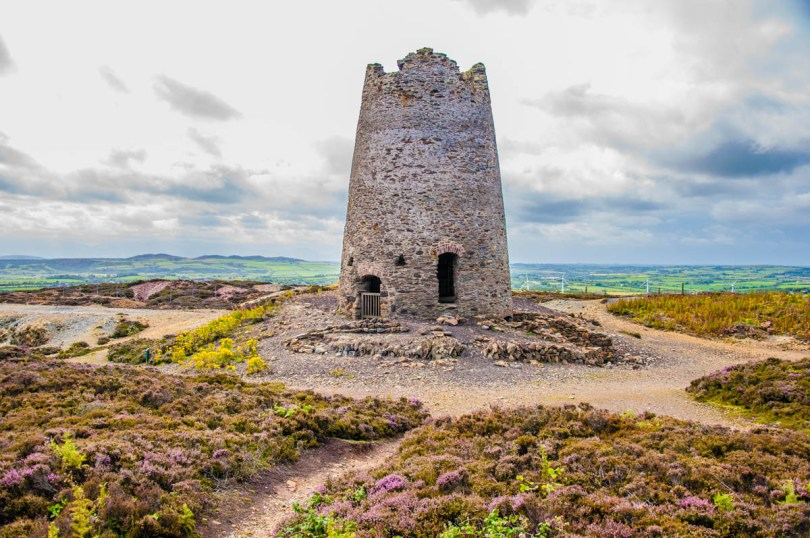 The ruins of the wind mill - Mynydd Parys The Copper Mountain - Amlwch, Isle of Anglesea - Wales, UK - rossiwrites.com