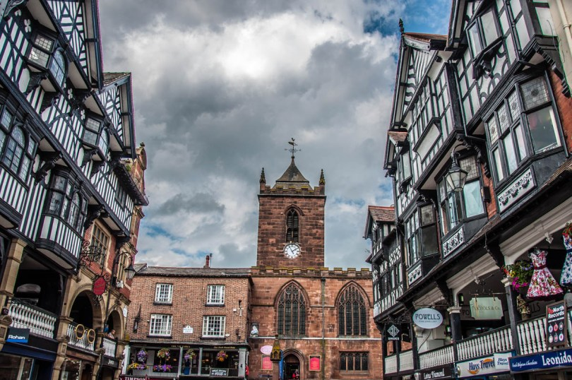 View of the historical centre - Chester, Cheshire, England - rossiwrites.com