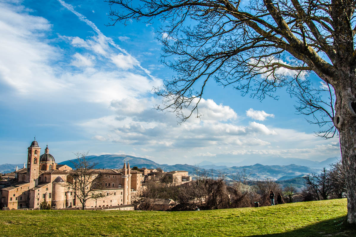 A view of Urbino with the Ducal Palace - Urbino, Marche, Italy - rossiwrites.com