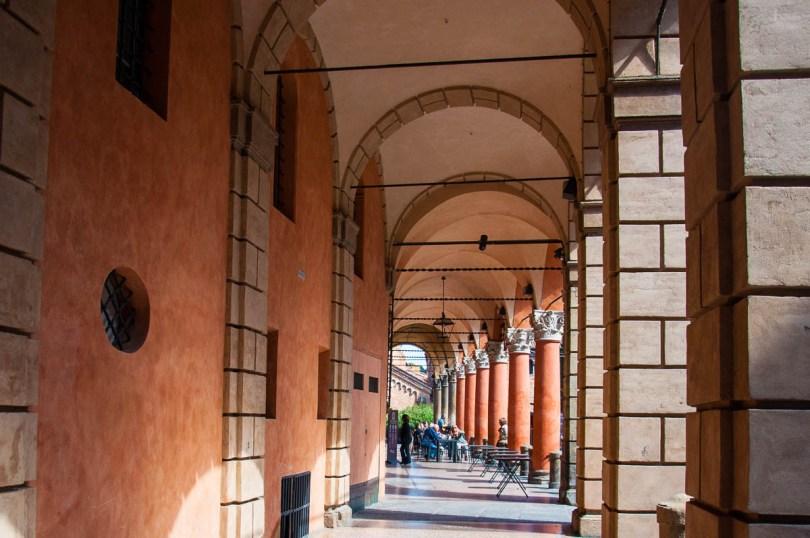 A traditional portico - Palazzo d'Accursio, Bologna, Emilia-Romagna, Italy - rossiwrites.com