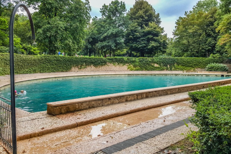 Roman pool in Terme di Giunone - Caldiero, Veneto, Italy - rossiwrites.com