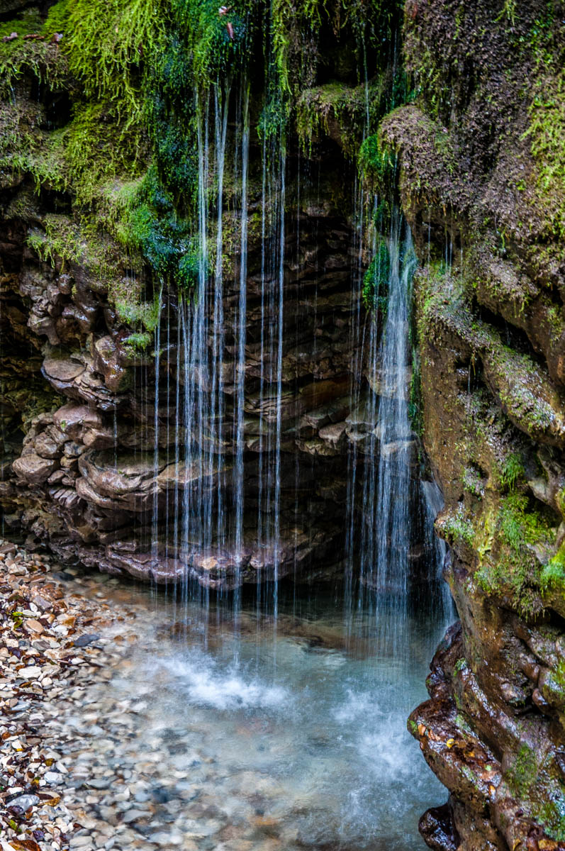 The waterfall - Grotta Azzurra di Mel - Hiking in the Dolomites - Veneto, Italy - rossiwrites.com