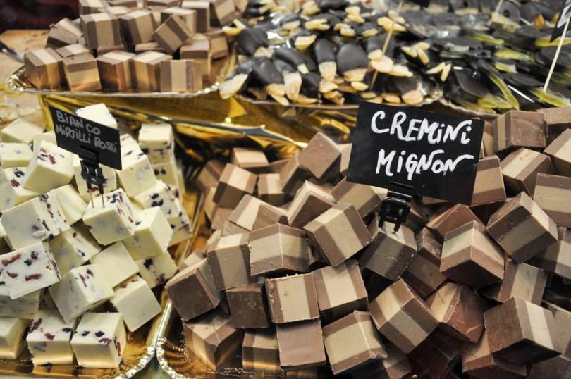 Cremini sold at the Chocolate Festival CioccolandoVi - Vicenza, Veneto, Italy - rossiwrites.com