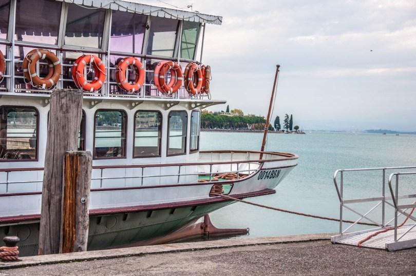 Ferry boat - Peschiera del Garda, Lake Garda, Italy - rossiwrites.com