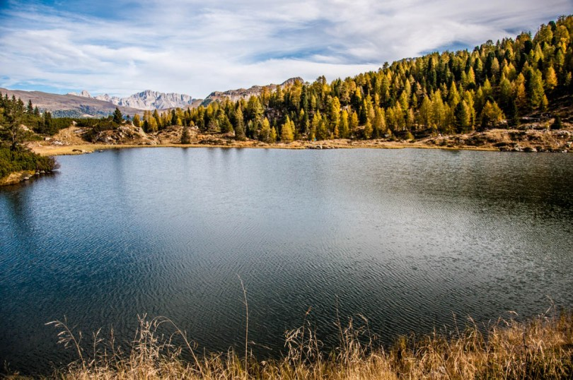 View of the Lakes Colbricon - Dolomites, Trentino, Italy - rossiwrites.com