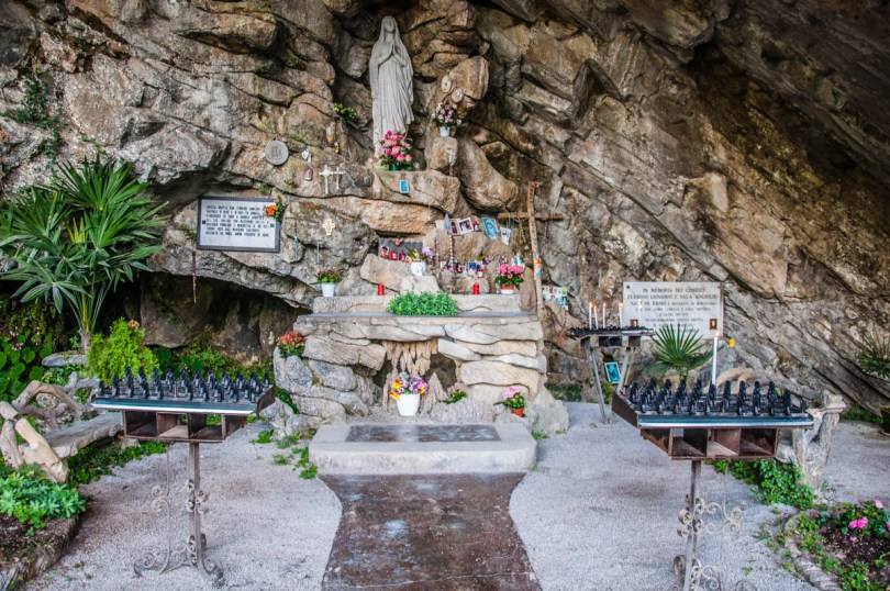 Small chapel in a cave above Lake Como - Lombardy, Italy - rossiwrites.com