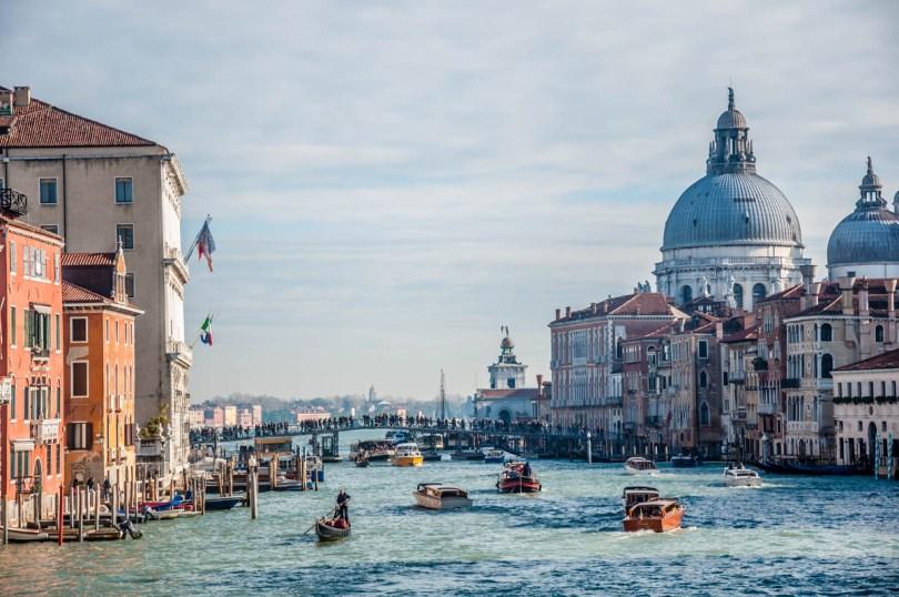 The votive bridge seen from Accademia Bridge - Venice, Veneto, Italy - www.rossiwrites.com